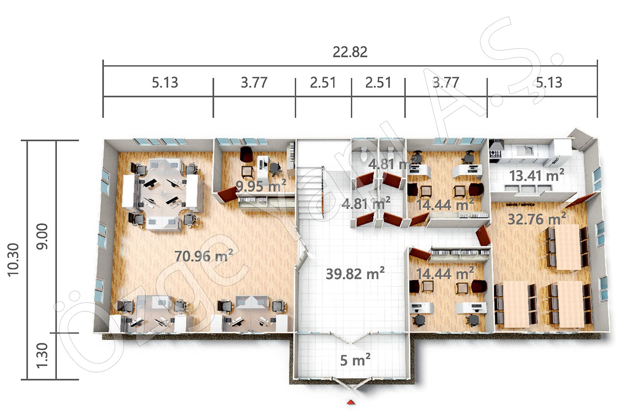 PRO 415 m2 - Rez-de-chaussée