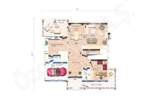 Villa avec architecture à l'américaine - Rez-de-chaussée