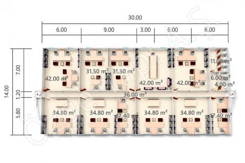 BKO 840 m2 - 1er étage