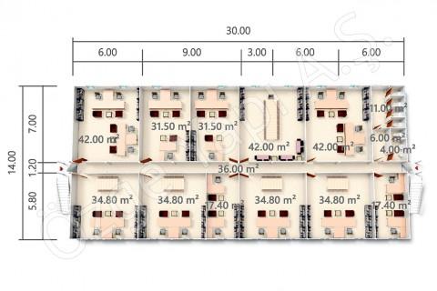BKO 840 m2 - Rez-de-chaussée