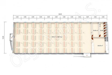 BKY 864 m2 - 1er étage