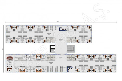 Hôpital 4340 m2 - 1. et 2ième étage