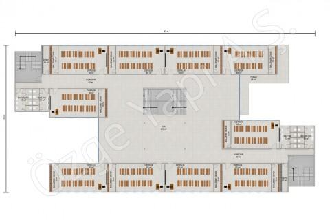 Ecole primaire 3036 m2 - 1. et 2ième étage