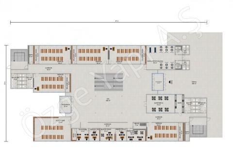 Ecole primaire 3036 m2 - Rez-de-chaussée