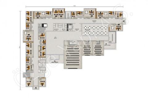 Office 3492 m2 - Rez-de-chaussée