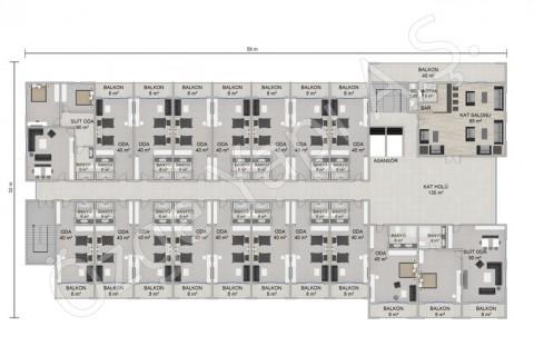 Hôtel 8115 m2 - 1. et 2ième étage
