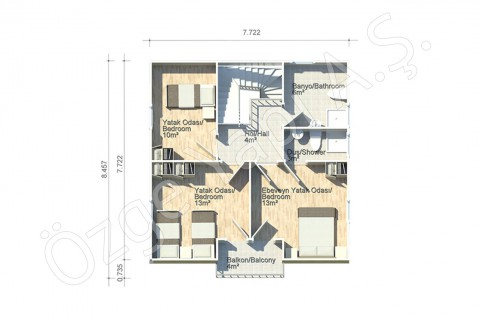 Anémone 128 m2 - 1er étage