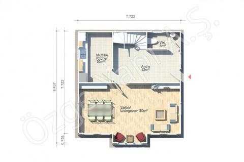 Anémone 128 m2 - Rez-de-chaussée