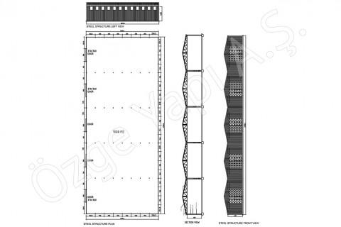Structure métallique 1000 m2