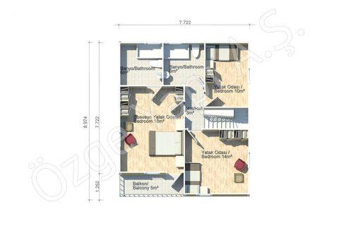 Margeurite 140 m2 - 1er étage