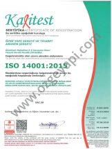 Certificat du Système de Gestion de l'Environnement